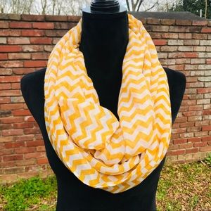 Accessories - Yellow and White Infinity Scarf